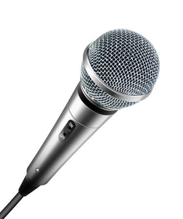 scenical: microphone isolated on white Illustration