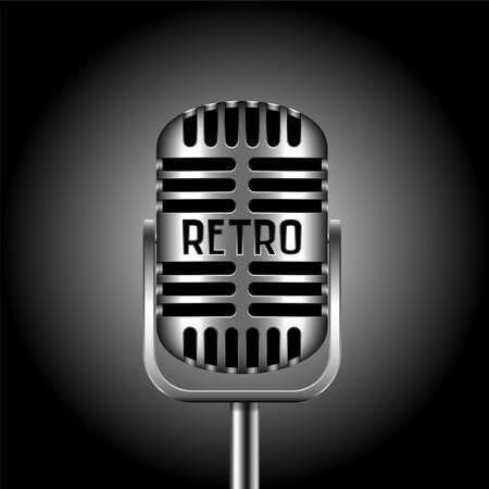 scenical: retro microphone Illustration