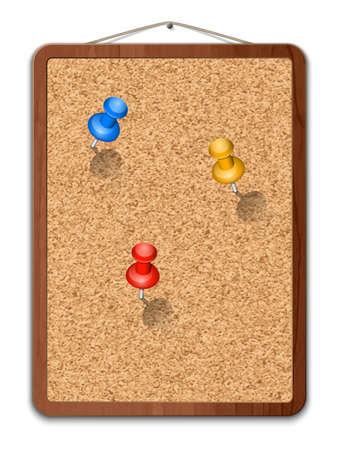 cork: Blank cork board with thumbtacks
