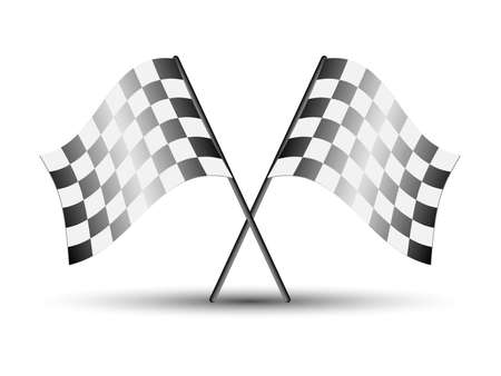 chequer: Checkered racing flags