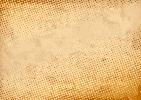 Fondo de medios tonos vintage. Ilustración de vector