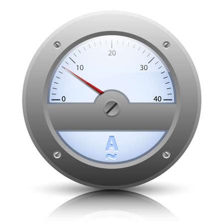 ampere: Analog ampere meter, easy editable