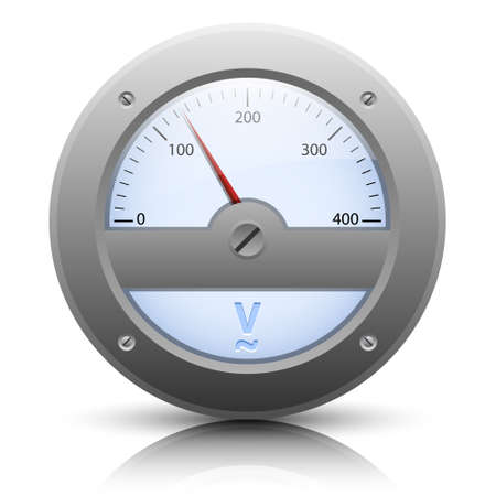 analog: Analog voltmeter, easy editable Illustration