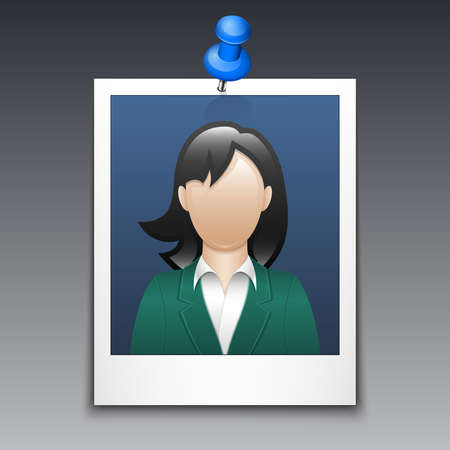 business suit: Photo frame with woman in business suit
