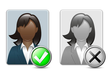black woman: Black woman user icons.