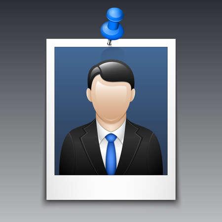 traje sastre: Marco de la foto con el hombre en traje de negocios
