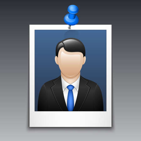 business suit: Photo frame with man in business suit