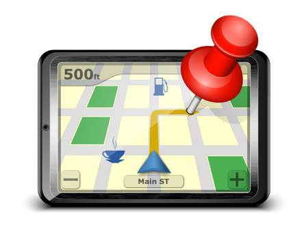 pinning: GPS navigation concept.