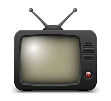 telecast: Stylish retro TV set icon.