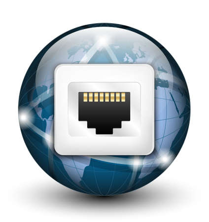 tcp: Global connection icon.