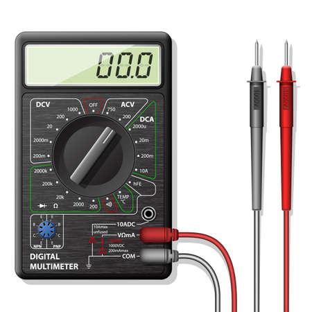 alternating current: Digital multimeter Illustration