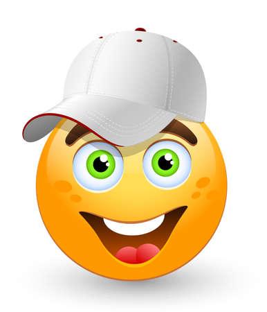 ballplayer: Cartoon  baseball player.