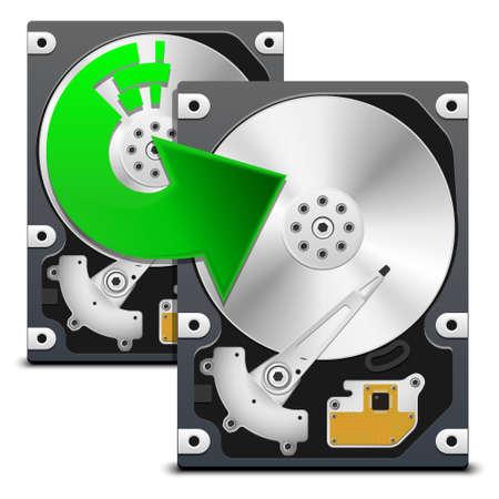 ide: Backup data from HDD, vector Illustration