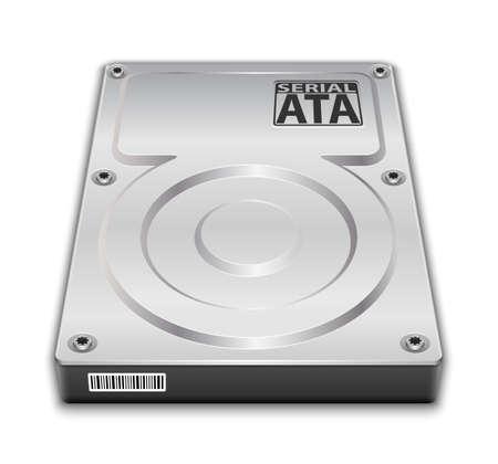 Hard disk drive icon. Vector Illustration