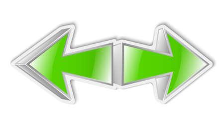 green arrows: Vector green arrows icon sticker