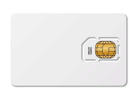 telecommunications technology: Blank sim card, vector