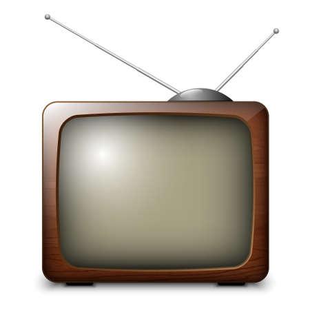 ver tv: Vector retro de la TV