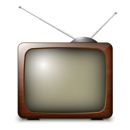 screen tv: Vector Retro TV Illustration