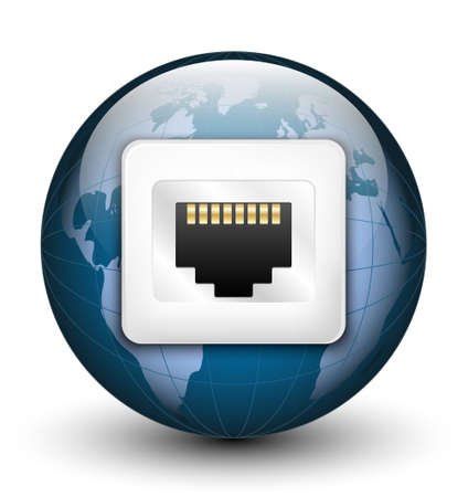 tcp: Global connection icon. Vector illustration Illustration