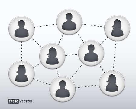 multilevel: Social network concept vector illustration Illustration