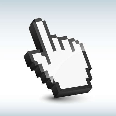 hand cursor: Vector hand cursor