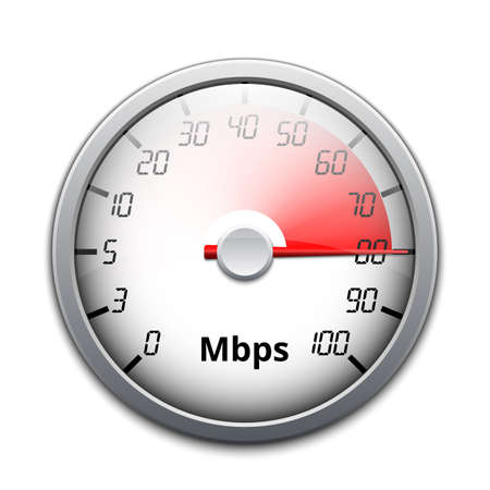 Vector internet speed icon Çizim