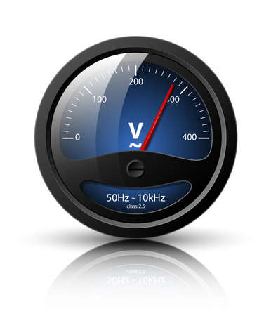 ico: Voltmeter icon. Vector illustration