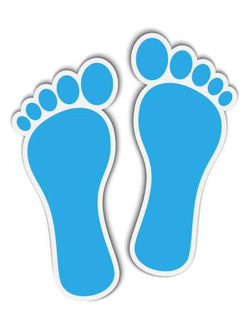 fußsohle: Footprint Aufkleber