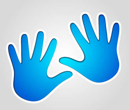 handprints: Vector handprints