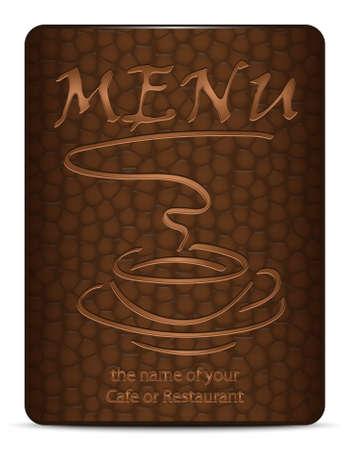 siesta: Caff� o del menu del ristorante. Illustrazione vettoriale