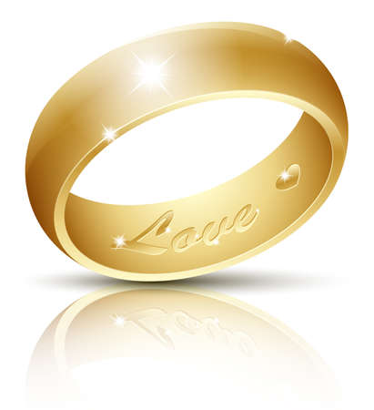 radiantly: Wedding Ring with an inscription Love inside. Vector illustration Illustration