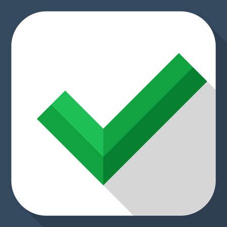 check mark icon: Check mark icon with long shadow