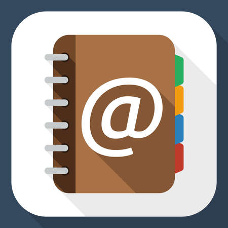 sketchpad: Address book flat icon with long shadow Illustration