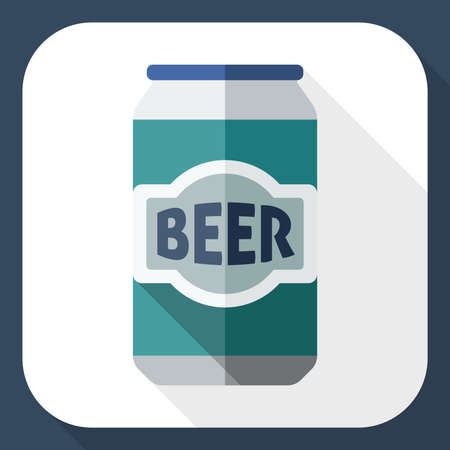 beerhouse: Beer can icon with long shadow