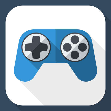 long shadow: Gamepad icon with long shadow Illustration