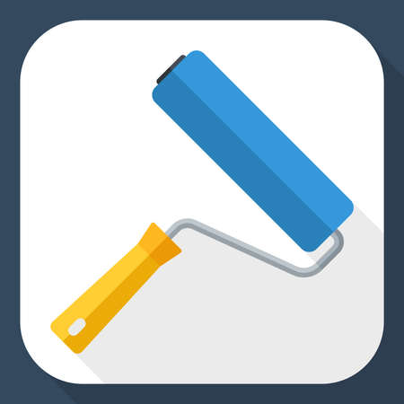 renovating: Paint roller with long shadow