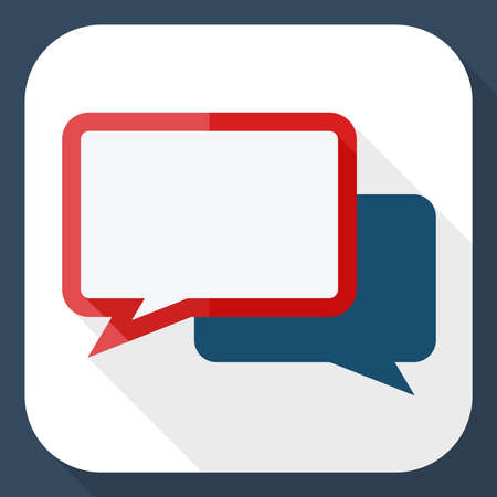 bubble background: Vector speech bubbles icon with long shadow Illustration