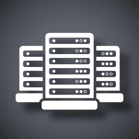 computer center: Vector icono del centro de datos