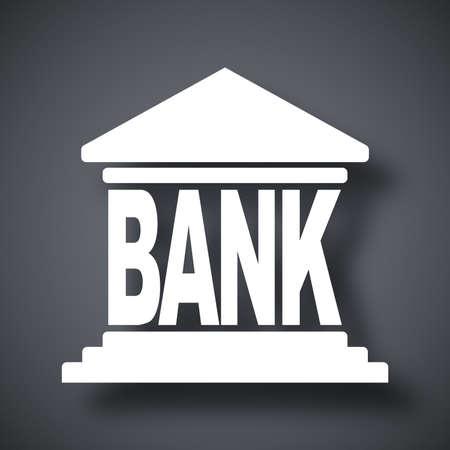 edificio banco: Icono edificio del Banco, vector Vectores