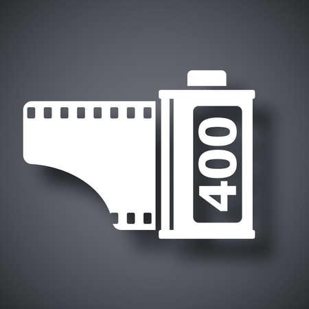 camera film: Camera film roll icon, vector