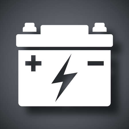 Autobatterie-Vektor-Icon-
