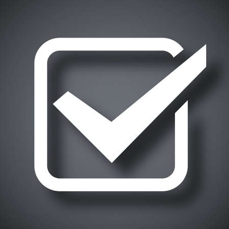 check mark icon: Check mark icon, vector illustration