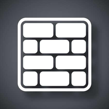 ベクトルのレンガ壁のアイコン