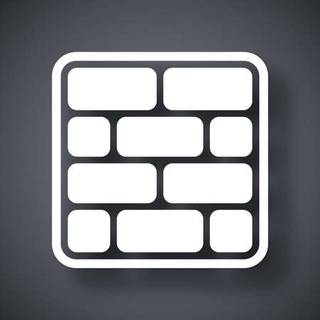 internet protection: Vector brick wall icon