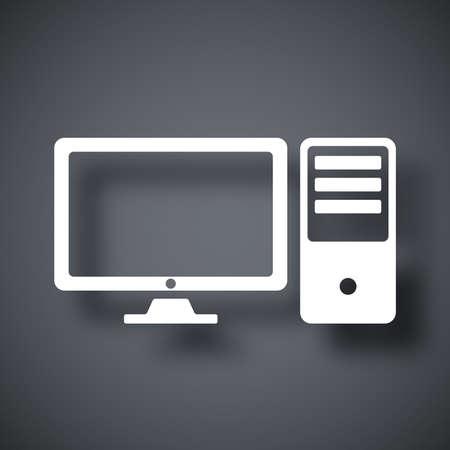 desktops: Vector desktop computer icon