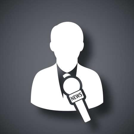 news reporter: Vector news reporter icon