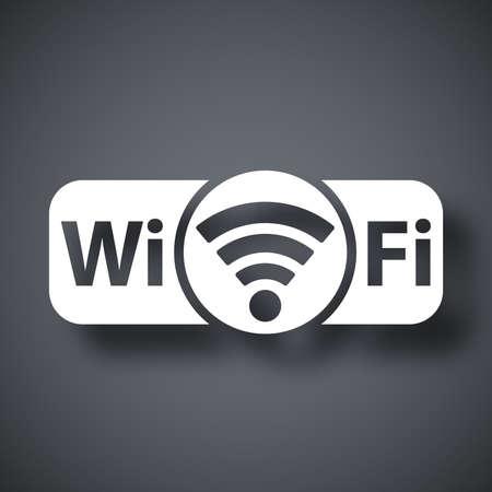 dsl: Vector non vera e propria icona Wi-Fi Vettoriali