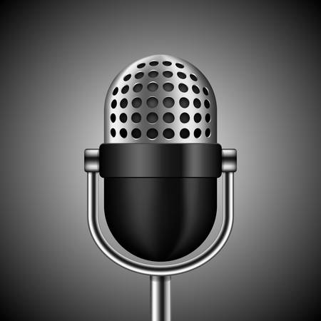 scenical: Vector microphone on dark background