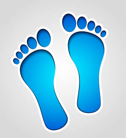 Vector footprints illustration