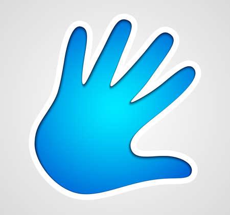 handprint: Vector handprint